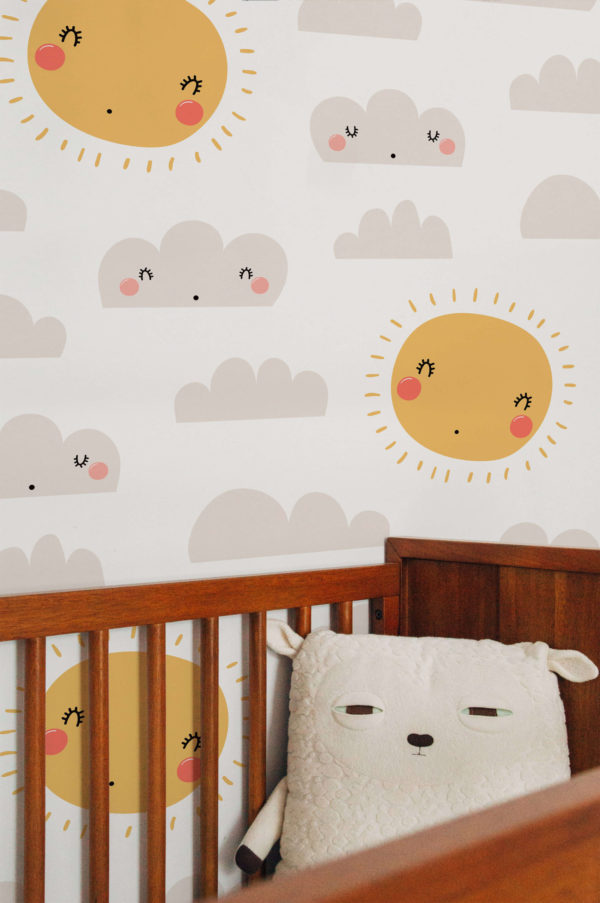 papier peint n°05 nuages et soleils