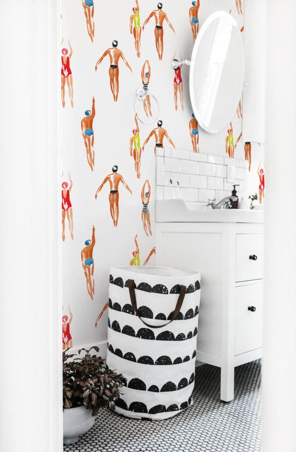 papier peint n°11 baigneurs de l'été