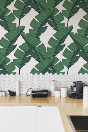 papier peint n°25 feuille de bananier
