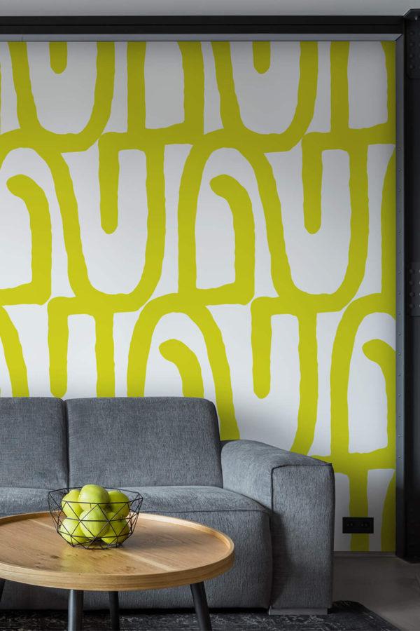 papier peint n°14 design formes graphiques