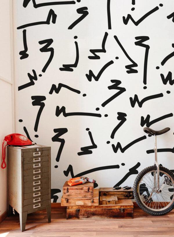 papier peint n°33 design graffiti