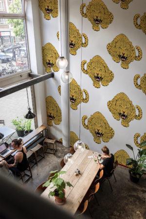 papier peint n°41 léopard rugissant 2