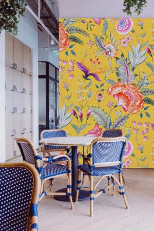 papier peint n°35 bouquet de fleurs rétro