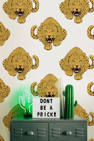 papier peint n°41 léopard rugissant