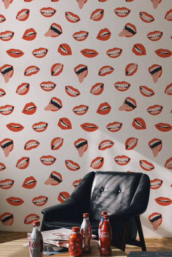 papier peint n°69 bouche rouge passion 2
