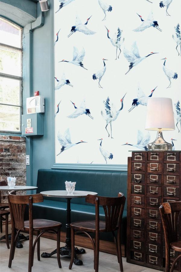 papier peint n°46 oiseaux aquarelle nature