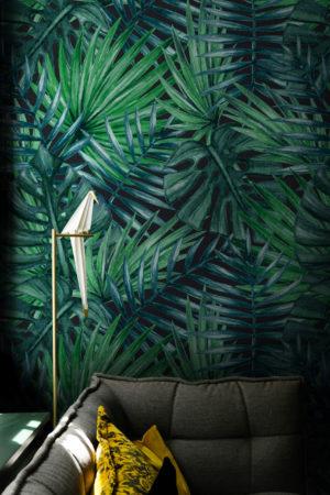papier peint n°76 feuille tropicale