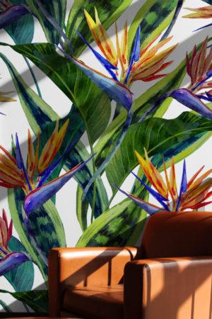 papier peint n°78 plantes tropicales élégantes