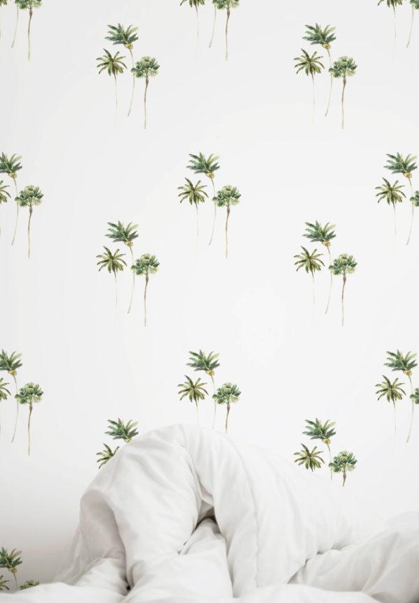 papier peint n°92 palmiers minimalistes