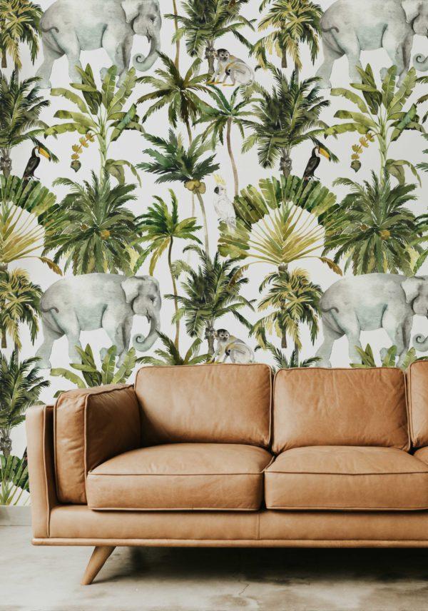 papier peint n°93 animaux de le jungle