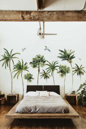 papier peint n°101 forêt de palmiers
