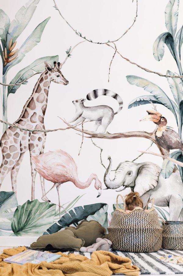 papier peint n°99 jungle à dimension réelle