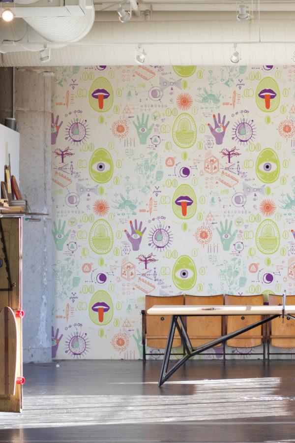 papier peint n°105 laboratoire du savant-fou
