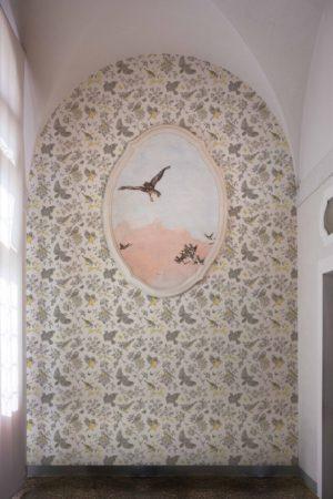 papier peint n°50 végétal oiseaux vintage