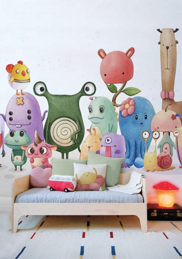 papier peint n°119 monster family