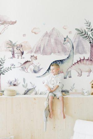 papier peint enfant n°118 dino