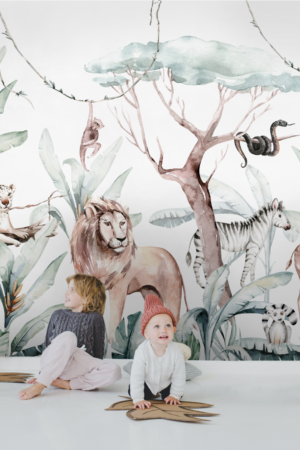 papier peint enfant n°121 Savane