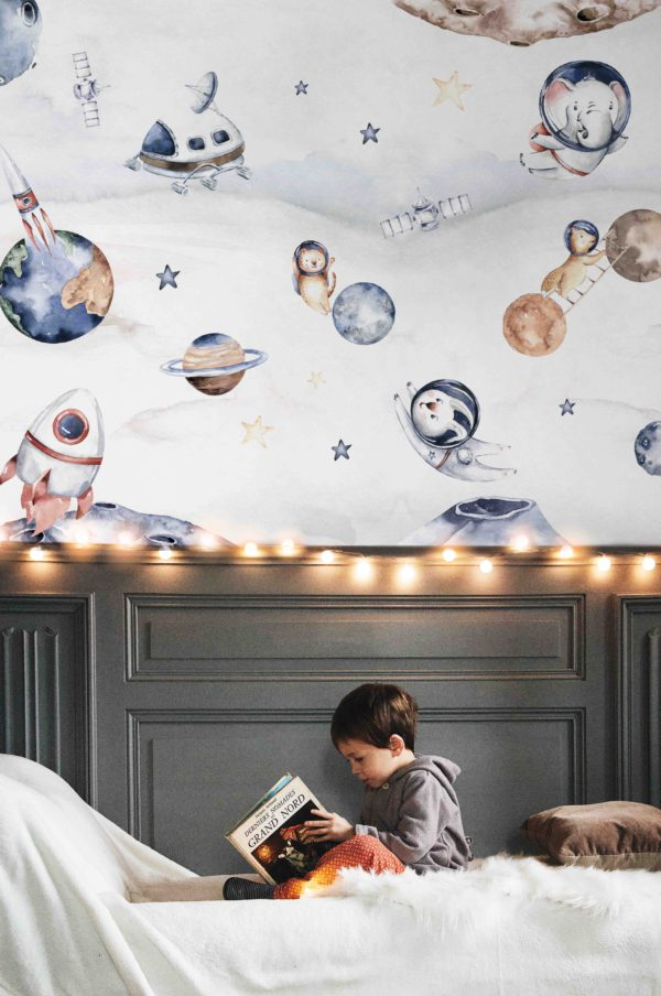 papier peint n°130 l'aventure spatiale
